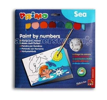 Раскраска Primo по номерам Море