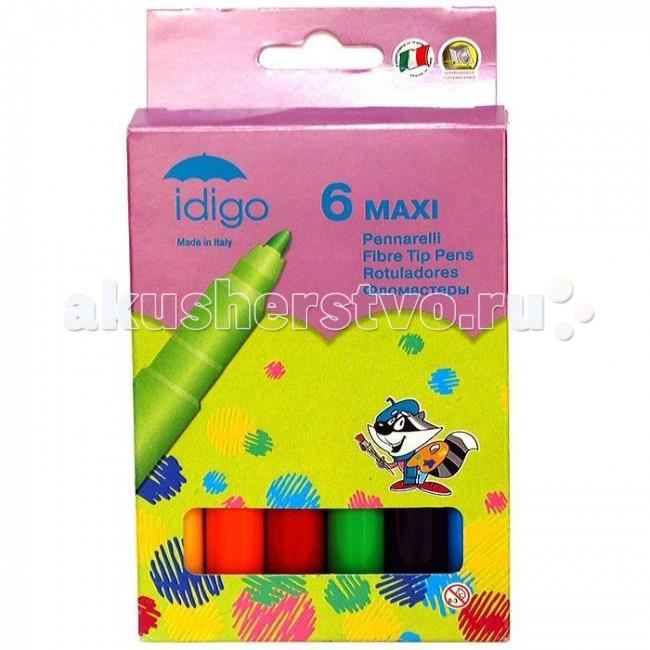 Фломастеры Idigo Maxi на водной основе 6 шт.