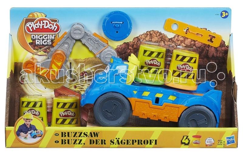 Play-Doh Hasbro Набор Весёлая ПилаHasbro Набор Весёлая ПилаТакой набор Play-Doh серии Diggin Riggs привлечёт внимание любого мальчишки, особенно если он любит лепить из пластилина.  Американский торговый бренд Hasbro продолжает нас радовать новыми линейками наборов пластилина Play-Doh, который нравится не только детям, но и их родителям.  Новый набор «Весёлая Пила» состоит из машины с пилой, которая в комплекте представлена в двух вариантах – с двойным и с одинарным лезвием. Закрепляется пила на машине, на специальную подвижную часть. Благодаря такой пиле ребёнок с лёгкостью сможет разрезать пластилин на своеобразные брусочки.  Вместе с машиной и пилами в комплект входит пластмассовая планка, которая имеет отверстия разной формы. Благодаря таким отверстиям можно создавать разный строительный материал.  Играя с таким набором, ваш малыш сможет почувствовать себя настоящим строителем.  В наборе: машинка 2 пилы 4 большие баночки пластилина Play-Doh инструкция  Материалы изготовления игрушки: пластилин, пластик высокого качества.<br>