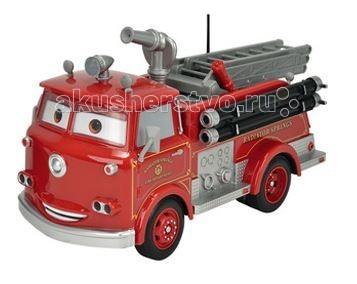 Dickie Радиоуправляемая пожарная машинаРадиоуправляемая пожарная машинаПожарная машина Dickie на радиоуправлении выполнена в масштабе 1:16.   Ребенок будет в восторге от игрушки, так как она не только быстро ездит, но и оборудована резервуаром для подачи воды, оснащена специальными звуковыми и световыми эффектами и у нее подвижны глаза.  Персонаж из любимого мультфильма не позволит вашему малышу скучать! Машинка работает на 2 частотах, что позволяет управлять игрушкой двум гонщикам одновременно.   Особенности:    пожарная машина на радиоуправлении создана по мотивам мультфильма Тачки, масштаб игрушки - 1:16  модель ездит вперед-назад, влево-вправо  у машинки двигаются глаза по сторонам  игрушка оснащена звуковыми и световыми эффектами - сирена мигает и гудит  пожарная машина Тачки на р/у Simba Dickie работает на двух частотах: 40 МГц и 27МГц  модель оснащена уникальной функцией - если вы нальете воду в специальный резервуар и нажмете на кнопку, то из шланга будет подаваться жидкость  батарейки в комплект не входят, их нужно приобретать отдельно   Размер машины: 29 см Размер упаковки: 45х21х21 см<br>