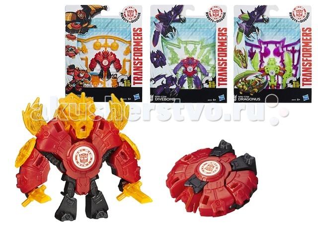 Transformers Hasbro Трансформеры Роботс-ин-Дисгайз МиниконсHasbro Трансформеры Роботс-ин-Дисгайз МиниконсМиниконс – не смотря на свои небольшие размеры, трансформируется в один шаг из маленького объекта в сильного бесстрашного робота.  Чтобы начать игру, необходимо освободить игрушку от рамы, к которой она прикреплена.  В режиме робота трансформера можно вооружить при помощи различных аксессуаров, которые прикреплены к раме и входят в набор.    Трансформеры серии Мини-конс очень непредсказуемы, но крайне просты в игре: трансформация происходит всего в одно действие. Удивите своего ребенка новой игрушкой.<br>