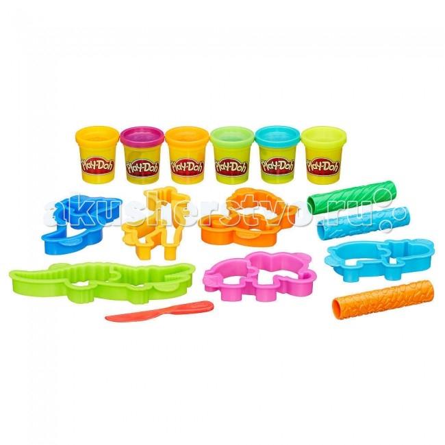 Play-Doh Hasbro Набор Веселое СафариHasbro Набор Веселое СафариЕсли Вашем ребенку надоел обычный пластилин, вручите ему этот набор, который позволит ему создать уникальные фигурки обитателей саванны.   Пластилин из набора не только приятный на ощупь и удобный для лепки, но и абсолютно безопасен для детского здоровья, так как изготовлен из высококачественных материалов и окрашен пищевыми красителями.  Особенности: В комплекте предусмотрены: 6 емкостей с разноцветным пластилином и аксессуары в виде трафаретов и трубочек с узорами. Формочки помогут ребенку создать фигурку одного из забавных животных. Созданный шедевр можно украсить изящным узором, прокатав по его поверхности фактурный аксессуар. Работать с пластилином очень удобно, он мягкий и не липнет к рукам. Набор изготовлен из высококачественных материалов с использование нетоксичных и безопасных для детского здоровья красителей.<br>