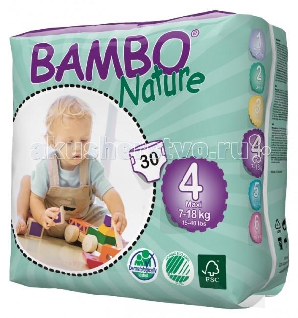 Bambo Nature Подгузники Max (7-18 кг) 30 шт.