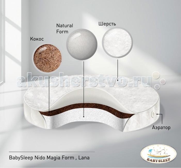 Матрас Nuovita  BabySleep Form Lana в колыбель 75x75 см