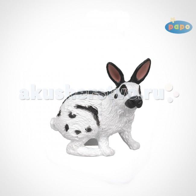 Papo Игровая реалистичная фигурка Пегий кроликИгровая реалистичная фигурка Пегий кроликИгровая реалистичная фигурка Пегий кролик 51025  Ручная роспись. Все фигурки Papo проходят тщательную подготовку и обработку, поэтому они крепкие и долговечные.  Материал: высококачественный полимерный материал.<br>