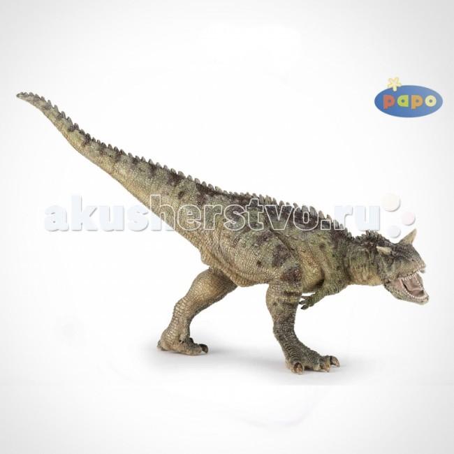 Papo Игровая реалистичная фигурка КарнозаврИгровая реалистичная фигурка КарнозаврИгровая реалистичная фигурка Карнозавр 55032   Ручная роспись. Все фигурки Papo проходят тщательную подготовку и обработку, поэтому они крепкие и долговечные.  Материал: высококачественный полимерный материал.<br>
