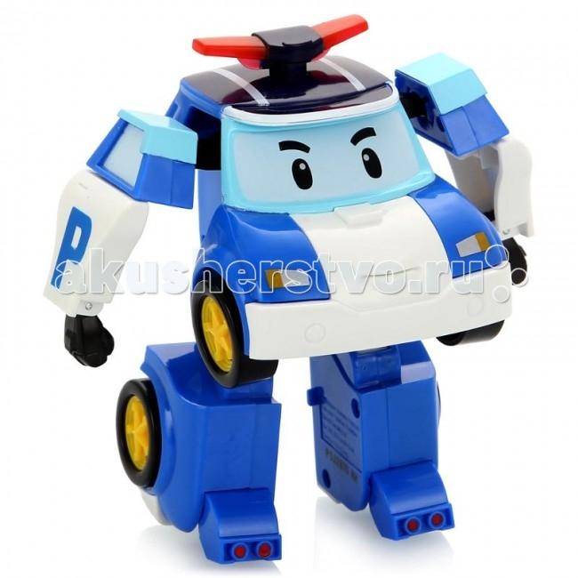 Robocar Poli Робот Поли на радиоуправлении 31 смРобот Поли на радиоуправлении 31 смRobocar Poli Робот Поли на радиоуправлении – очень красивая полицейская машинка, которая легко перевоплощается в робота. Двигается вперед и назад, влево и вправо. Также с пульта активируются мигалки (свет) и звук сирены. Управляется в форме робота.  Особенности: Руки и ноги подвижны. И это еще не все! Шагающий Поли может танцевать! А еще ты можешь сделать запись с пульта управления и робот воспроизведет запись при движении! Мальчикам нравятся роботы на р/у, они любят воспроизводить фрагменты из любимого мультфильма или придумывать свои собственные сюжеты. При движении фары игрушки светятся, и работает его мигалка. Радиоуправляемые игрушки – это украшение любого детского автопарка, ведь с ними можно придумать множество интересных игр. Ребенок может катать игрушку как обычную машинку или, взяв в руки пульт управления, трансформировать ее в робота и шагать по придуманному городу, наводя в нем порядок. Во время перевоплощения, издается звук, машинка от Robocar POLI за секунды становится высоким полицейским с грозным лицом на лобовом стекле. Во время игры у ребенка развивается воображение и образное мышление, его фантазия помогает создавать новые сюжеты игры, а во время управления пультом, развивается моторика пальцев. Чтобы робот выполнял все свои функции, необходимо дополнительно приобрести 3 ААА батарейки. Продукция сертифицирована, экологически безопасна для ребенка, использованные красители не токсичны и гипоаллергенны.<br>