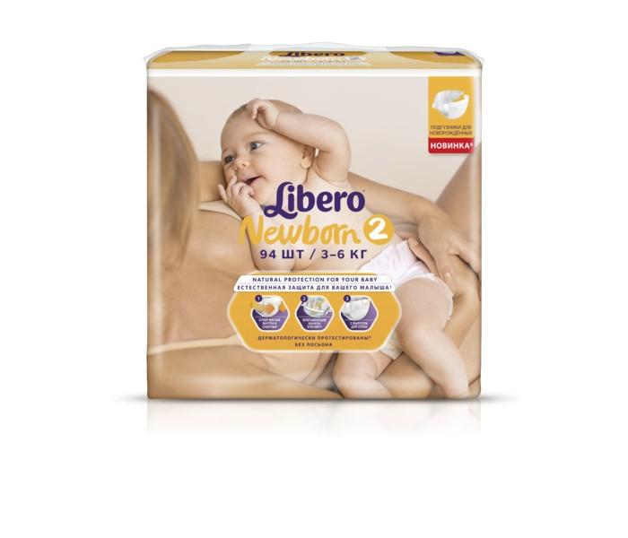 Libero Подгузники Baby Soft NewBorn (3-6 кг) 94 шт.Подгузники Baby Soft NewBorn (3-6 кг) 94 шт.Подгузники Libero Baby Soft , сделаны из мягких и натуральных материалов, со специальным сетчатым слоем Skin Care, позволяющим коже малыша оставаться сухой и здоровой.  Поверхность очень мягкая и приятная на ощупь, идеально подходящая для чувствительной кожи малыша.   Поверхность подгузников дышащая, благодаря микроскопическим отверстиям для циркуляции воздуха.  Эластичный поясок сзади, тянущиеся застежки и мягкие резиночки вокруг ножек позволяют надежно фиксировать подгузник, абсолютно не стесняя движений малыша.   Зауженные спереди и сзади боковинки, идеально повторяющие фигурку крохи, помогают предотвратить протекание. Это очень важно в первые месяцы жизни малыша, так как большую часть времени он проводит лежа - во сне.  Подгузники имеют специальный мягкий сетчатый слой внутри, который отлично впитывает не только влагу, но и жидкий детский стул.  Многоразовые застежки-липучки не боятся ни крема, ни талька, и Вы в любой момент сможете проверить, не пора ли поменять подгузник.  Индикатор влажности в виде голубого рисунка на внешней стороне подгузника исчезает, когда он наполнен.<br>