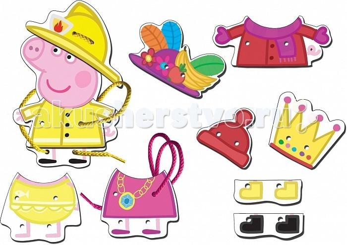 Деревянная игрушка Peppa Pig Шнуровка Пеппа