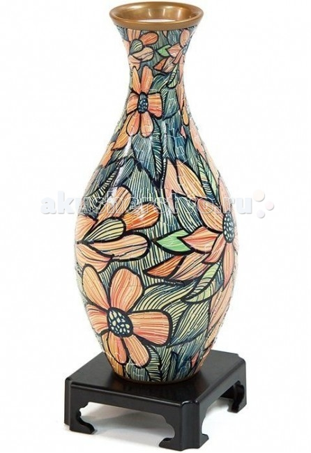 Pintoo Фигурный пазл 3d Ваза МозаикаФигурный пазл 3d Ваза МозаикаФигурный пазл 3d Pintoo S1007 Ваза, Мозаика 160 деталей, 27см.  Пазл в виде вазы - это уникальный выбор для любителей собирать пазлы. Фигурный пазл 3d PINTOO Мозаика представляет собой объемный пазл в форме вазы, детали которого изготовлены из прочного пластика, они плотно фиксируются одна с другой без клея и образуют прочную конструкцию.  Внутрь вазы помещается колба, в которую можно налить воду и использовать вашу вазу по прямому назначению: ставить в нее живые цветы! При нанесении изображения на детали используется технология лазерной печати, поэтому качество картинки очень высокое, и когда пазл собран, то стыки между деталями почти не заметны. Фигурный пазл является игрой-головоломкой развивающая логическое мышление, внимание, воображение и память. Кроме того, собирание пазла способствует развитию мелкой моторики и координации движений руки, наблюдательности, познакомит ребёнка с понятием объёма.  Количество деталей: 160 шт. Размер вазы:  с подставкой 27х11х11 см,  без подставки 24х11х11.<br>