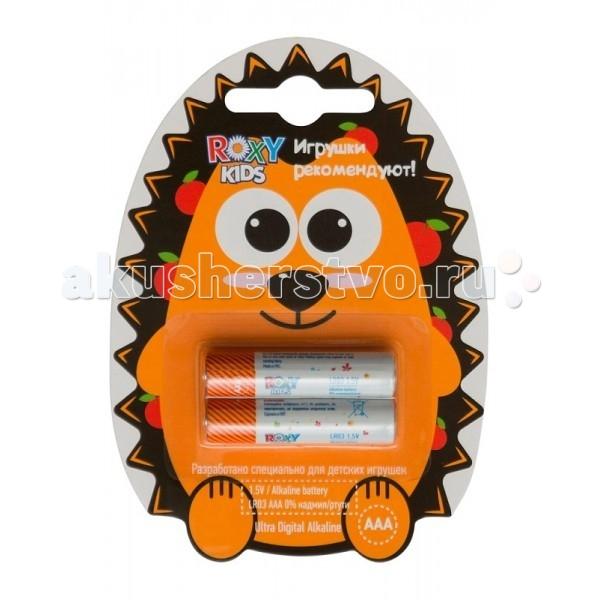 Roxy Батарейка тип ААА 1.5В 2 шт.Батарейка тип ААА 1.5В 2 шт.Roxy Батарейка тип ААА 1.5В - премиальные алкалиновые батарейки разработанные специально для игрушек, где важно поддерживать высокий заряд стабильно и длительный период времени. Это обеспечивается за счет контроля качества на каждом этапе производства и последующего тестирования продукции.  Особенности: Элементы питания производятся на фабрике оборудованной по последнему слову техники.  Производство батареек сертифицировано по самым жестким стандартам производства ISO 9001:2008/GB/T 19001-2008. Качество сохранения и продолжительности заряда элементов питания Roxy находится на уровне известных мировых брендов. Высокий заряд. Продолжительный период работы в игрушках. Гарантия 7 лет. Батарейки Roxy выпускаются в стандартных типоразмерах АА и ААА.<br>