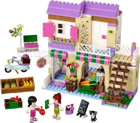 Конструктор Lego Friends Подружки Продуктовый супермаркетFriends Подружки Продуктовый супермаркетКонструктор Lego Friends Подружки Продуктовый супермаркет в котором Вы найдете только самые свежие продукты.  Владелец и продавец в магазине — Майя. Она всегда приветлива и старается помочь своим покупателем. Над магазином расположен её дом, в котором она живёт с очаровательным котиком.  Миа на своём мотороллере приехала за покупками. Помоги ей выбрать самые сладкие фрукты!   Из ярких пластиковых деталей предстоит собрать двухэтажный павильон. В большом зале Мия и Майя решили расположить торговый зал. Здесь необходимо разместить прилавки с фруктами и овощами, установить кассовую стойку. Встречать посетителей будет очаровательный котенок. На первом этаже есть даже туалет.  Второй этаж девушки решили сделать личной зоной отдыха. В уютной комнате они всегда смогут обсудить очередной бизнес-план, выпить прохладительные напитки и перекусить. Игрушка имеет сразу две функциональные зоны. Фасад здания декорирован цветами, окна и двери открываются. Во дворе можно построить удобную лавочку и установить рекламный стенд.<br>
