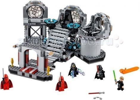 Конструктор Lego Star Wars 75093 Лего Звезда Смерти: Последняя битваStar Wars 75093 Лего Звезда Смерти: Последняя битваКонструктор Lego Star Wars Звезда Смерти: Последняя битва - последняя дуэль на световых мечах, произошедшая между Люком Скайуокером и Дартом Вейдером. В результате сражения был убит Император Палпатин и смертельно ранен сам Дарт Вейдер. Но, главным событием стало то, что перед гибелью могущественный Лорд ситов смог почувствовать в себе частичку добра и вернуться на Светлую сторону Силы, а его сын Люк Скайуокер завершил своё обучение и стал рыцарем Джедаем.  В наборе: 5 минифигурок Дарт Вейдер в новом шлеме из двух частей, Люк Скайуокер, Палпатин и 2 императорских гвардейца в красной броне.   Все, кроме бывшего канцлера, вооружены световыми мечами. Лорд Ситхов выпускает молнии из рук, как и в фильме.<br>