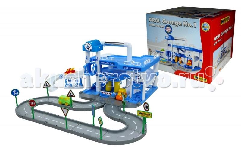 Wader Паркинг ARAL 3-уровневый с дорогой и подъемникомПаркинг ARAL 3-уровневый с дорогой и подъемникомWader Паркинг ARAL 3-уровневый с дорогой и подъемником    Особенности: Для подъема машинок на этажи можно использовать лифт.  Для спуска с этажей существует серпантин, который выводит машинку на подсоединяемую пластиковую дорогу с разметкой и дорожными знаками.  На первом этаже расположен подъемник для осмотра машин, автомойка и заправка. В комплекте к паркингу 3 машинки из пластика. Изготовлено из высококачественной пластмассы.<br>