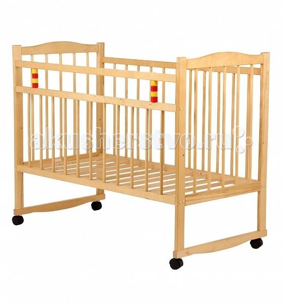 Детская кроватка Промтекс Колесо-качалка
