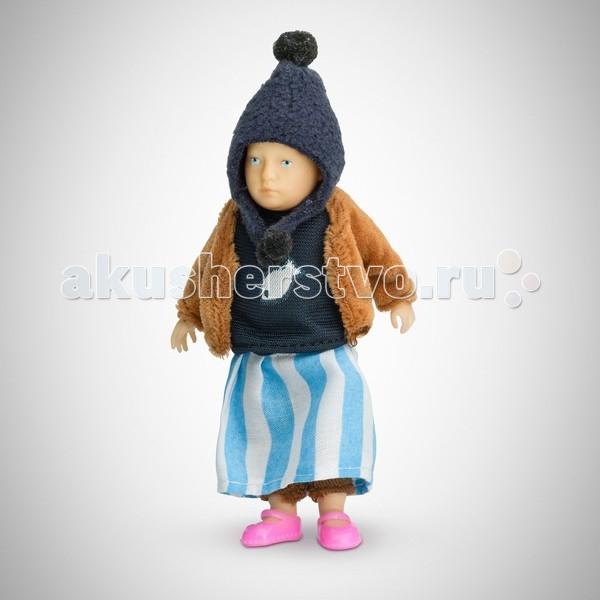 Pupsique Пупс Девочка в голубой полосатой юбке 110 мм