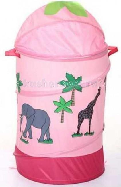 Bony Корзина для игрушек АфрикаКорзина для игрушек АфрикаBony Корзина для игрушек Африка  Чтобы игрушки не пылились, поможет вместительная корзина для игрушек.   Она яркая и красивая, что обязательно оценит любой ребенок.   Легко складывается в сумочку, которая прилагается к корзине, как подарочная упаковка.   Имеет каркас на гибкой пружине.  Малыш с удовольствием приспособит ее для игр и пряток.  Выполнена из экологически чистых материалов.  Размеры:  Диаметр 43 см Высота 60 см Объем — 50–55 л Вес — 0.35 кг<br>