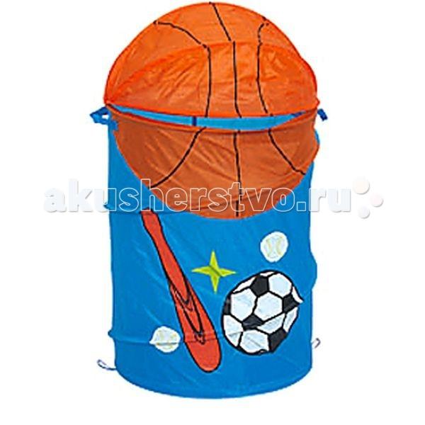 Bony Корзина для игрушек Спорт XDP-057Корзина для игрушек Спорт XDP-057Bony Корзина для игрушек Спорт  Чтобы игрушки не пылились, поможет вместительная корзина для игрушек.   Она яркая и красивая, что обязательно оценит любой ребенок.   Легко складывается в сумочку, которая прилагается к корзине, как подарочная упаковка.   Имеет каркас на гибкой пружине.  Малыш с удовольствием приспособит ее для игр и пряток.  Выполнена из экологически чистых материалов.  Размеры:  Диаметр 43 см Высота 60 см Объем — 50–55 л Вес — 0.35 кг<br>