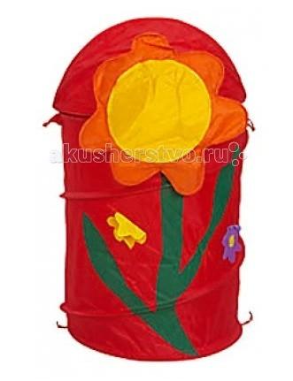 Bony Корзина для игрушек ЦветокКорзина для игрушек ЦветокBony Корзина для игрушек Цветок  Чтобы игрушки не пылились, поможет вместительная корзина для игрушек.   Она яркая и красивая, что обязательно оценит любой ребенок.   Легко складывается в сумочку, которая прилагается к корзине, как подарочная упаковка.   Имеет каркас на гибкой пружине.  Малыш с удовольствием приспособит ее для игр и пряток.  Выполнена из экологически чистых материалов.  Размеры:  Диаметр 43 см Высота 60 см Объем — 50–55 л Вес — 0.35 кг<br>