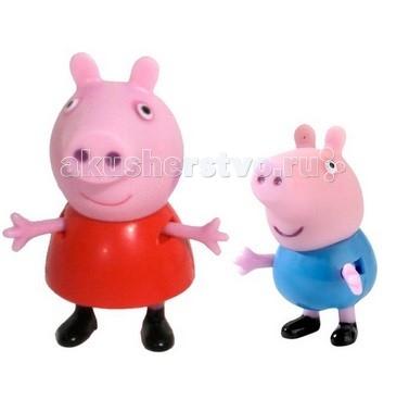 Peppa Pig Набор Пеппа и ДжорджНабор Пеппа и ДжорджPeppa Pig Набор Пеппа и Джордж   В наборе «Пеппа и Джордж» 2 фигурки, которые могут сидеть, стоять, двигать ручками и ножками: Пеппа – 5,5 см, Джордж – 4 см.   Игрушки изготовлены из безопасного пластика. Товар сертифицирован.<br>