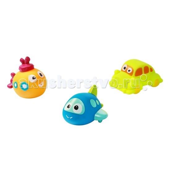 BabyOno Игрушки для купания ТrioИгрушки для купания ТrioИгрушки для купания Тrio от BabyOno - обязательно понравятся Вашему малышу! Набор для ванны – это 3 очаровательные игрушки, которые сделают купание вашего крохи веселым, увлекательным и обучающим! Возьмите эту дружную команду с собой в ванну, когда соберетесь купаться. С ними можно устроить массу интересных игр или просто вдоволь наплескаться и набрызгаться!  Особенности: изготовлены из безопасного материала высоко качества различные контрастирующие цвета рельефные поверхности и объемные элементы представлен 3-мя игрушками каждая игрушка является брызгалкой игры в воде налаживают работу нервной системы, нейтрализуют полученные в течение дня стрессы, благотворно сказываются на всестороннем и своевременном развитии малыша игрушки можно считать, сравнивать, угадывать, кто из них кто. Кроме того, в процессе игры малыш познакомится с цветами и формами примерный размер каждой игрушки из набора: 6х7 см - размеры отдельных игрушек незначительно отличаются друг от друга  Наборы в ассортименте.<br>