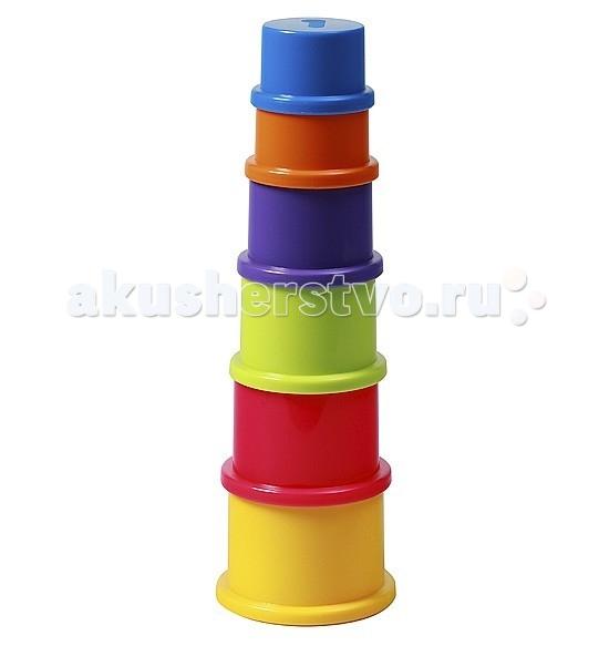 Развивающая игрушка BabyOno Пирамидка ЦифрыПирамидка ЦифрыПирамидка Цифры от BabyOno - развивающая игрушка. В исходном виде представляет собой шесть разноцветных стаканчиков из которых собирается небольшая объемная пирамидка. Игрушка знакомит малыша с основными цветами, тренирует моторику и пространственное мышление, знакомит с понятиями больше-меньше.  Особенности: изготовлена из высококачественных материалов пирамидка не имеет стержня безопасна в использовании подходит даже самым маленьким деткам пирамидку можно собирать по принципу от большего к меньшему при игре с пирамидкой у вашего ребенка развивается мелкая моторика, координация, внимание развивает последовательность действие ваш ребенок начинает различать цвета<br>