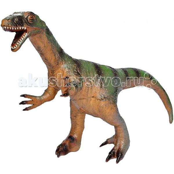 Megasaurs (HGL) Фигурка динозавра ВелоцирапторФигурка динозавра ВелоцирапторMegasaurs (HGL) Фигурка динозавра - Велоцираптор - представляет собой уменьшенную детальную копию обитателя нашей планеты, жившего во время мелового периода, около 80 миллионов лет назад. Этот ящер был не очень большим, но весьма быстрым хищником. Подробно и правдоподобно изготовленная фигурка поможет ребенку тщательно изучить строение древнего животного. Ну и, разумеется, никто не запретит просто поиграть с ним.  Фигурка Велоцираптора является копей одноименного доисторического ящера, которая непременно впечатлят Вашего ребенка своим правдоподобным видом. Велоцираптор в переводе с латыни значит Быстрый вор. Жил он в Меловом периоде. Ходил на задних мощных лапах.   Велоцираптор - мелкий хищник мелового периода. Особую известность получил благодаря х/ф Парк юрского периода. Велоцирапторами там были названы хищные динозавры, которые больше подходят под описание дейнониха. Велоцираптор обладал сравнительно длинными задними конечностями, что позволяло динозавру развивать приличную скорость. Сегодня основной спор вокруг велоцираптора идет о том, как он выглядел. Этого динозавра когда-то изображали с зеленой кожей рептилии, но в последнее время в моде изображать его с примитивными, пушистыми, яркими цветными перьями. С этой игрушкой можно разыграть разнообразные игровые сюжеты, связанные с Меловым периодом, в котором жили одни динозавры.<br>