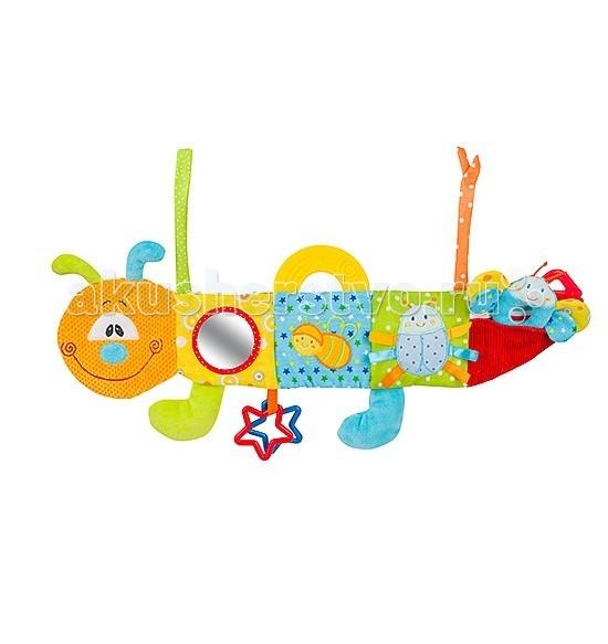 Развивающая игрушка BabyOno Гусеничка мультисенсорнаяГусеничка мультисенсорнаяИгрушка Гусеничка от BabyOno сочетает в себе множество элементов - шуршалки, погремушки. Она функциональна: может быть прикреплена на кроватку, коляску, автокресло. Шуршащая ткань и яркие элементы будут способствовать развитию мелкой моторики.  Особенности: высококачественные материалы изготовления безопасное использование разно-фактурный текстиль, несколько элементов создают шорох легкость крепления развивающие элементы (прорезыватели, разноцветные элементы, зеркальце и мн.др.) играя подвеской, ребенок развивает тактильные навыки, цветовое и звуковое восприятие, координацию зрения, хватательный рефлекс, память, внимание и умение наблюдать<br>
