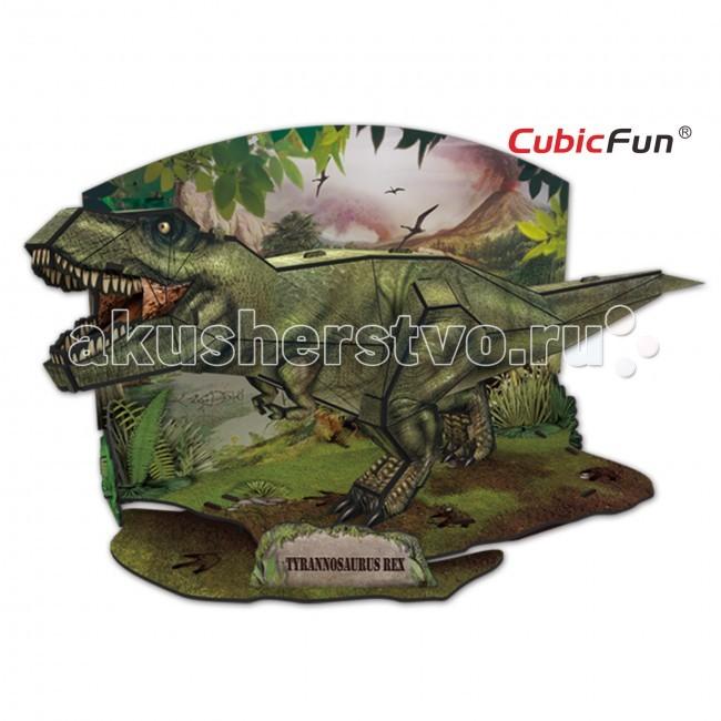 Конструктор CubicFun 3D пазл Эра Динозавров Тираннозавр3D пазл Эра Динозавров ТираннозаврCubic Fun Эра Динозавров Тираннозавр - представляет Вашему вниманию Тираннозавра, которого вы сможете собрать из специальных деталей.   Пазл изготовлен из качественных материалов, плотные картонные детали легко скрепляются между собой за счет специальных замков, не требующих дополнительных материалов.   Необычный объемный динозавр сможет пополнить вашу коллекцию древнейших хищников, а вы весело и интересно проведете несколько часов за сборкой пазла.<br>
