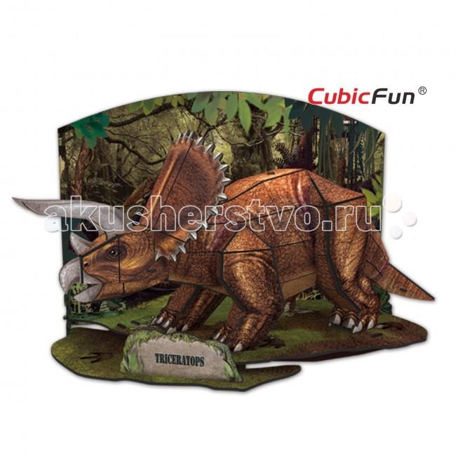 Конструктор CubicFun 3D пазл Эра Динозавров Трицератопс