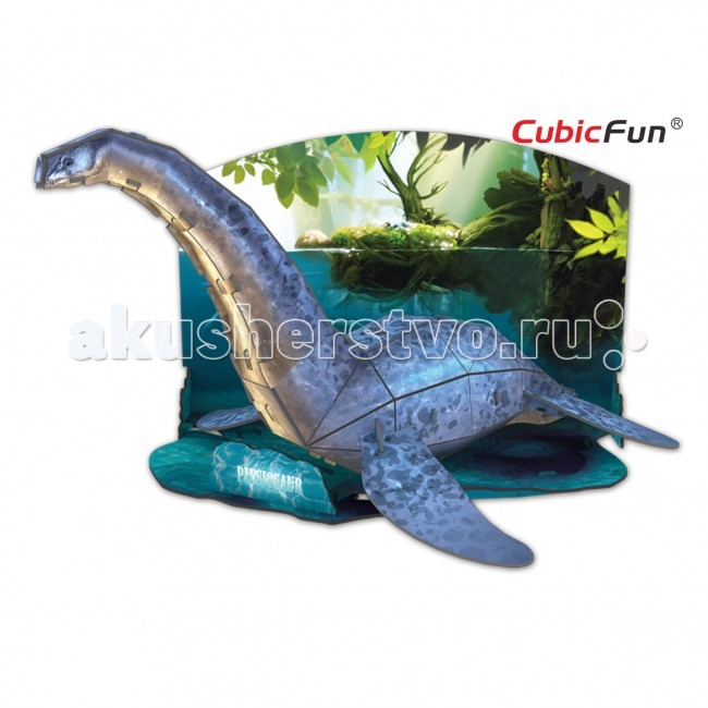 Конструктор CubicFun 3D пазл Эра Динозавров Плезиозавр3D пазл Эра Динозавров ПлезиозаврCubic Fun Эра Динозавров Плезиозавр - ластоногие динозавры, живущие до мелового периода. Эти животные были приспособлены к жизни под водой, однако они могли выныривать наружу, чтобы набирать воздух. С помощью объемного пазла Эра Динозавров, соединив между собой 38 деталей, вы получите фигурку представителя этого класса животных. Размеры набора в собранном виде достигают 29 сантиметров в длину и 18 в высоту. Для сборки не требуются инструменты и клей.  Пазл выполнен в хорошем качестве, на элементы фигурки нанесена печать высокой четкости и цветопередачи. Фигурку динозавра дополняет морской пейзаж, который служит неким постаментом.<br>