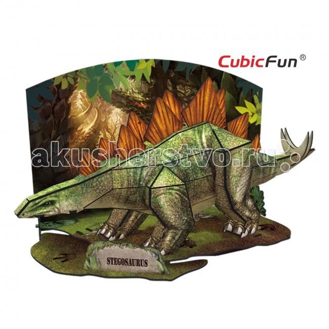 Конструктор CubicFun 3D пазл Эра Динозавров Стегозавр3D пазл Эра Динозавров СтегозаврCubic Fun Эра Динозавров Стегозавр - с помощью объемного пазла вы сможете собрать из 49 деталей невероятного Стегозавра. Мощный динозавр получится у вас с помощью соединения элементов пазла между собой.   Стегозавры относились к травоядным ящерам, узнать их очень легко по двум рядам больших костяных пластин вдоль позвоночника. Соединив 49 деталей из высококачественного ламинированного картона, вы получите фигуру стегозавра, стоящего на небольшой полянке посредине доисторического леса.  Детали легко скрепляются между собой, а в каком именно порядке — вам расскажет подробная инструкция. Фигурку динозавра украсит любой интерьер, ведь ее можно поставить на полку в качестве сувенира.<br>