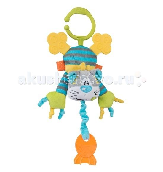 Подвесная игрушка BabyOno Котик с прорезывателем