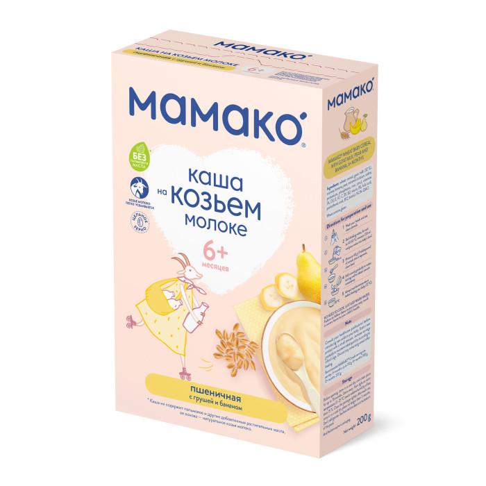 Мамако Молочная пшеничная каша с грушей и бананом на козьем молоке с 6 мес. 200 г