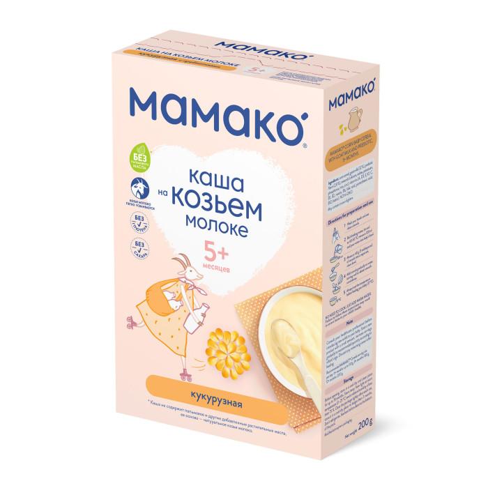 Мамако Молочная кукурузная каша с пребиотиками на козьем молоке с 5 мес. 200 г