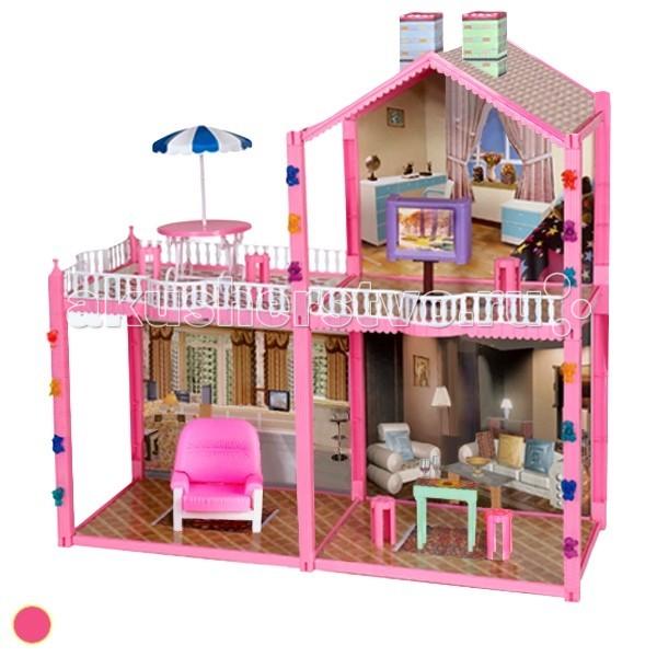 1 Toy Кукольный дом Красотка (96 деталей 4 комнаты)