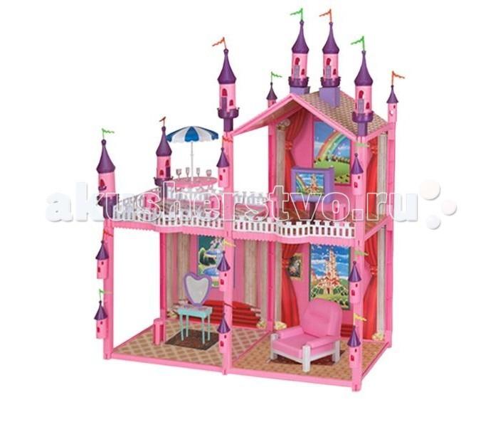 1 Toy Кукольный домик Красотка (102 детали 4 комнаты)