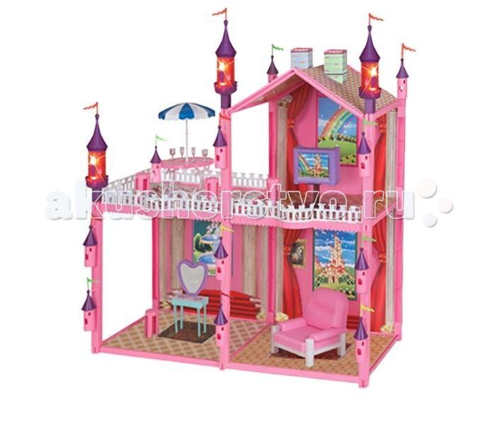 1 Toy Кукольный домик Красотка (99 дет. 4 комнаты с подсветкой)