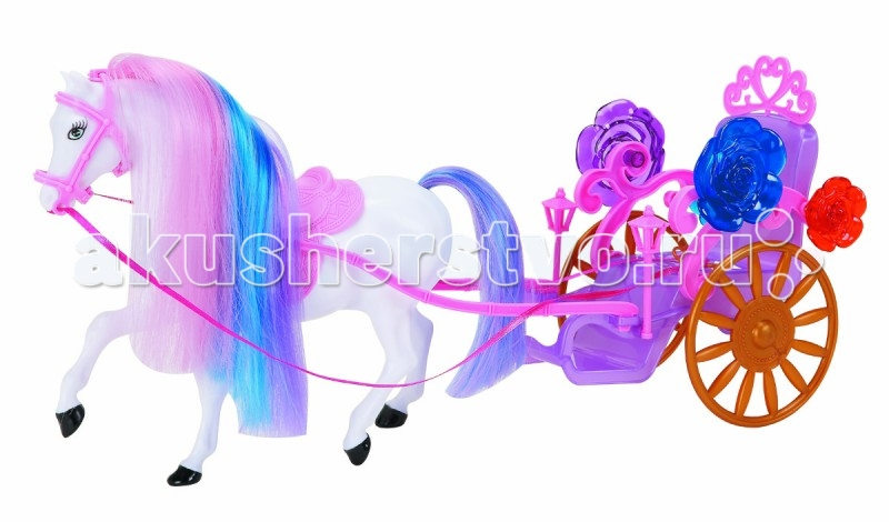 1 Toy Карета для кукол Красотка (1-местная с лошадью)