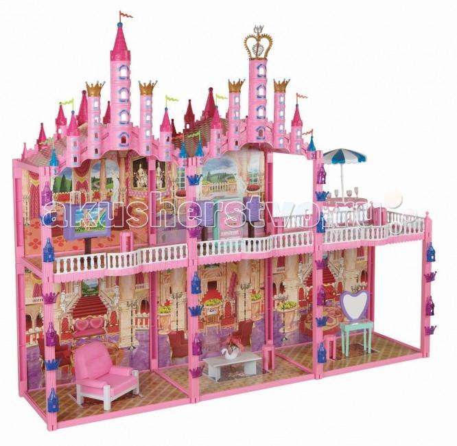 1 Toy Кукольный домик Замок Красотка (187 деталей 5 комнат)