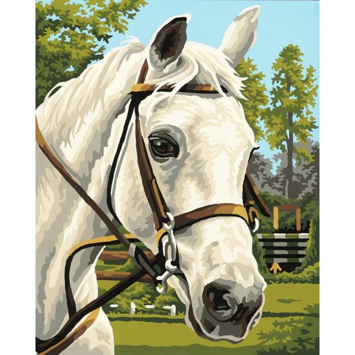 Schipper Картина по номерам Белая лошадь 24х30 смКартина по номерам Белая лошадь 24х30 смКартина по номерам Schipper Белая лошадь   Особенности:    Основа для картины имеет льняную структуру, поэтому готовая картина выглядит как настоящее произведение искусства.  Картина раскрашивается без смешивания красок.  Все необходимые цвета красок есть в комплекте. Просто закрашивайте участки красками с соответствующим номером.  В набор также входит фактурная картонная основа с пронумерованными контурами, кисть и контрольный лист, на котором вы можете потренироваться, прежде чем переходить к раскрашиванию основного листа.  Акриловые краски в данном наборе содержатся в очень плотно закрытых контейнерах. Благодаря этому, краски доходят до покупателя, сохранив свои свойства.   Размер: 24х30 см  Кол-во цветов: 18<br>