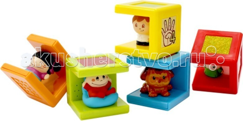 Развивающая игрушка 1 Toy Kidz Delight Семейка набор из 5 кубиков