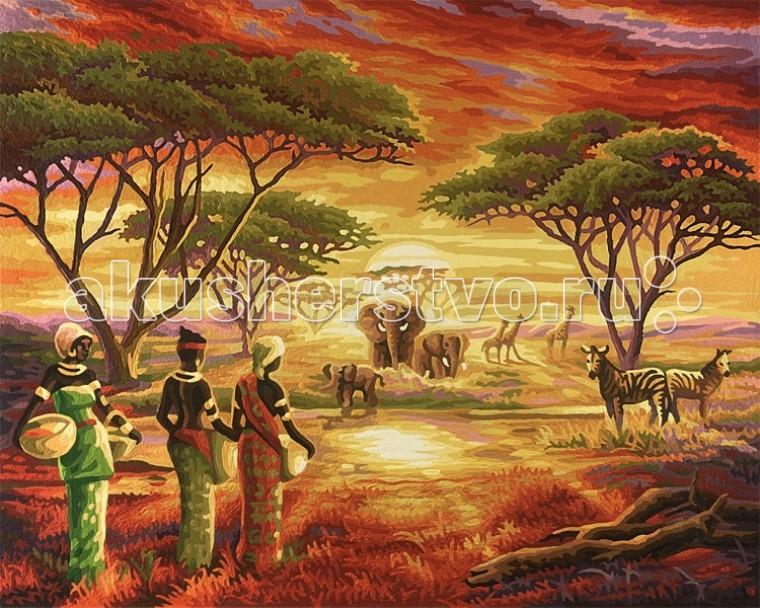 Schipper Картина по номерам Африка 40х50 смКартина по номерам Африка 40х50 смКартина по номерам Schipper Африка   Особенности:    Основа для картины имеет льняную структуру, поэтому готовая картина выглядит как настоящее произведение искусства.  Картина раскрашивается без смешивания красок.  Все необходимые цвета красок есть в комплекте. Просто закрашивайте участки красками с соответствующим номером.  В набор также входит фактурная картонная основа с пронумерованными контурами, кисть и контрольный лист, на котором вы можете потренироваться, прежде чем переходить к раскрашиванию основного листа.  Акриловые краски в данном наборе содержатся в очень плотно закрытых контейнерах. Благодаря этому, краски доходят до покупателя, сохранив свои свойства.   Размер: 40х50 см<br>