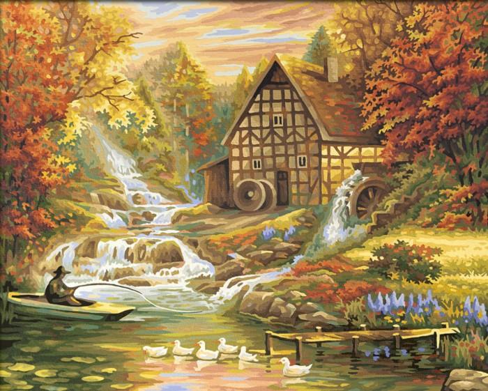 Schipper Картина по номерам Осень 40х50Картина по номерам Осень 40х50Картина по номерам Schipper Осень   Особенности:    Основа для картины имеет льняную структуру, поэтому готовая картина выглядит как настоящее произведение искусства.  Картина раскрашивается без смешивания красок.  Все необходимые цвета красок есть в комплекте. Просто закрашивайте участки красками с соответствующим номером.  В набор также входит фактурная картонная основа с пронумерованными контурами, кисть и контрольный лист, на котором вы можете потренироваться, прежде чем переходить к раскрашиванию основного листа.  Акриловые краски в данном наборе содержатся в очень плотно закрытых контейнерах. Благодаря этому, краски доходят до покупателя, сохранив свои свойства.   Кол-во цветов: 36 Размер: 40х50 см<br>