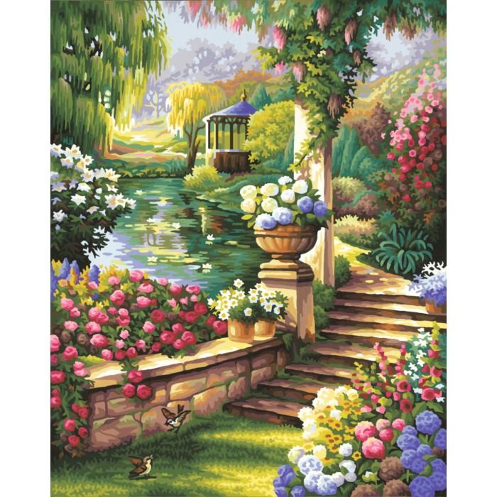 Schipper Картина по номерам Райский сад 40х50 смКартина по номерам Райский сад 40х50 смКартина по номерам Schipper Райский сад   Особенности:    Основа для картины имеет льняную структуру, поэтому готовая картина выглядит как настоящее произведение искусства.  Картина раскрашивается без смешивания красок.  Все необходимые цвета красок есть в комплекте. Просто закрашивайте участки красками с соответствующим номером.  В набор также входит фактурная картонная основа с пронумерованными контурами, кисть и контрольный лист, на котором вы можете потренироваться, прежде чем переходить к раскрашиванию основного листа.  Акриловые краски в данном наборе содержатся в очень плотно закрытых контейнерах. Благодаря этому, краски доходят до покупателя, сохранив свои свойства.   Размер: 40х50 см<br>