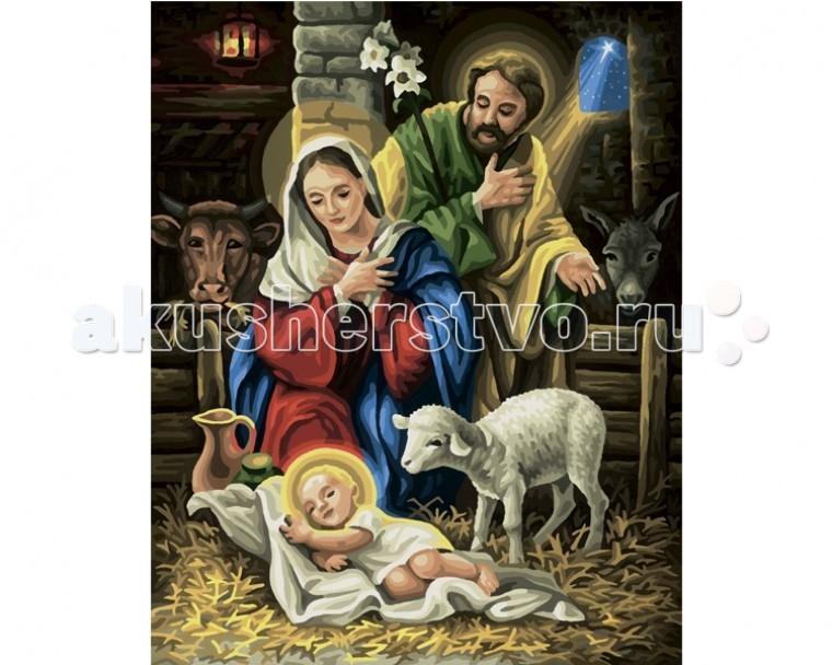 Schipper Картина по номерам Рождение Христа 40х50 смКартина по номерам Рождение Христа 40х50 смКартина по номерам Schipper Рождение Христа   Особенности:    Основа для картины имеет льняную структуру, поэтому готовая картина выглядит как настоящее произведение искусства.  Картина раскрашивается без смешивания красок.  Все необходимые цвета красок есть в комплекте. Просто закрашивайте участки красками с соответствующим номером.  В набор также входит фактурная картонная основа с пронумерованными контурами, кисть и контрольный лист, на котором вы можете потренироваться, прежде чем переходить к раскрашиванию основного листа.  Акриловые краски в данном наборе содержатся в очень плотно закрытых контейнерах. Благодаря этому, краски доходят до покупателя, сохранив свои свойства.   Кол-во цветов: 36 Размер: 40х50 см<br>