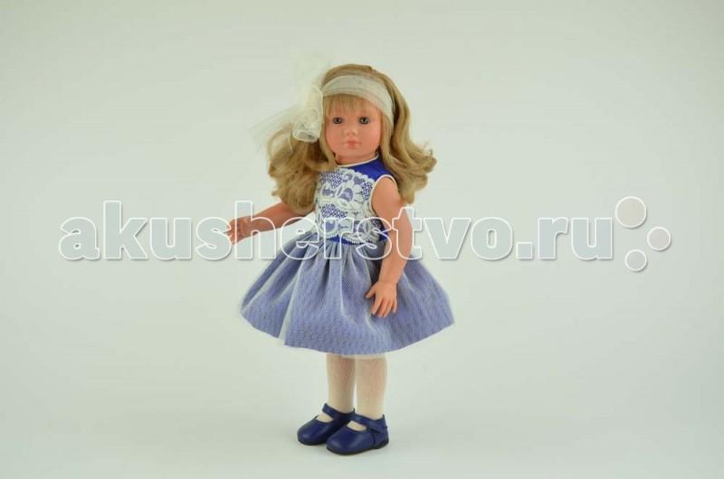 ASI Кукла Нелли 43 см 252470Кукла Нелли 43 см 252470Кукла ASI Нелли 43 см 252470 влюбляет в себя с первого взгляда!  Красавица кукла Нелли в нарядном платье василького цвета, отделанном кружевом и сеточкой, будет радовать Вас и Вашего ребенка изо дня в день.  Играть с куклой Нелли - одно удовольствие. Она выполнена из плотного винила высокого качества, приятного на ощупь и очень натуралистичного по цвету. У куклы прямые ножки и она может устойчиво стоять без всякой опоры.  Распущенные длинные волосы Нелли украшены модным бантом, очень качественно прошиты, их можно расчесывать и делать куколке разные прически.  Также Нелли одета в белые колготочки и прелестные темно-синие туфельки.  Особенности: Пупсик ASI сделан очень качественно.  Без запаха.  Производство Испания. Используется безопасный твердый винил.  Видна прорисовка мельчайших подробностей тела, рук и ног.<br>