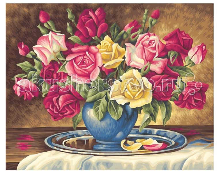 Schipper Картина по номерам Розы для тебя 40х50 смКартина по номерам Розы для тебя 40х50 смКартина по номерам Schipper Розы для тебя   Особенности:    Основа для картины имеет льняную структуру, поэтому готовая картина выглядит как настоящее произведение искусства.  Картина раскрашивается без смешивания красок.  Все необходимые цвета красок есть в комплекте. Просто закрашивайте участки красками с соответствующим номером.  В набор также входит фактурная картонная основа с пронумерованными контурами, кисть и контрольный лист, на котором вы можете потренироваться, прежде чем переходить к раскрашиванию основного листа.  Акриловые краски в данном наборе содержатся в очень плотно закрытых контейнерах. Благодаря этому, краски доходят до покупателя, сохранив свои свойства.   Размер: 40х50 см<br>