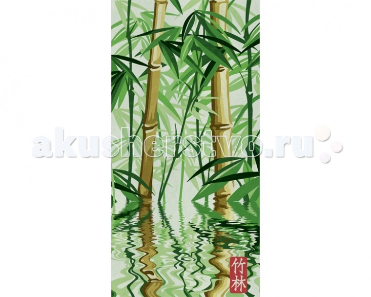 Раскраска Schipper Картина по номерам Бамбуковый лес 40х80 смКартина по номерам Бамбуковый лес 40х80 смКартина по номерам Schipper Бамбуковый лес   Особенности:    Основа для картины имеет льняную структуру, поэтому готовая картина выглядит как настоящее произведение искусства.  Картина раскрашивается без смешивания красок.  Все необходимые цвета красок есть в комплекте. Просто закрашивайте участки красками с соответствующим номером.  В набор также входит фактурная картонная основа с пронумерованными контурами, кисть и контрольный лист, на котором вы можете потренироваться, прежде чем переходить к раскрашиванию основного листа.  Акриловые краски в данном наборе содержатся в очень плотно закрытых контейнерах. Благодаря этому, краски доходят до покупателя, сохранив свои свойства.   Кол-во цветов: 13 Размер: 40х80 см<br>