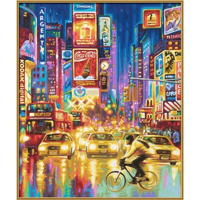 Schipper Картина по номерам Нью-Йорк 50х60 смКартина по номерам Нью-Йорк 50х60 смКартина по номерам Schipper Нью-Йорк   Особенности:    Основа для картины имеет льняную структуру, поэтому готовая картина выглядит как настоящее произведение искусства.  Картина раскрашивается без смешивания красок.  Все необходимые цвета красок есть в комплекте. Просто закрашивайте участки красками с соответствующим номером.  В набор также входит фактурная картонная основа с пронумерованными контурами, кисть и контрольный лист, на котором вы можете потренироваться, прежде чем переходить к раскрашиванию основного листа.  Акриловые краски в данном наборе содержатся в очень плотно закрытых контейнерах. Благодаря этому, краски доходят до покупателя, сохранив свои свойства.   Кол-во цветов: 36 Размер: 50х60 см<br>